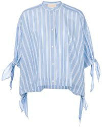Erika Cavallini Semi Couture - Striped Shortsleeved Shirt - Lyst