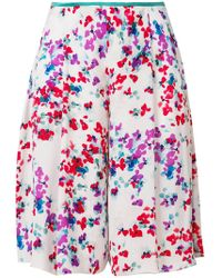 Emporio Armani - Floral Print Knee Length Shorts - Lyst