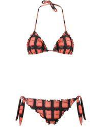 Amir Slama - Ruffled Triangle Bikini Set - Lyst