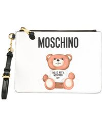 Moschino - Toy Bear Paper Cut Out Clutch - Lyst