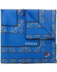 Ganni - Patterned Scarf - Lyst