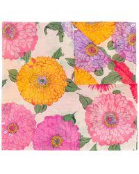 Twin Set - Floral Print Scarf - Lyst
