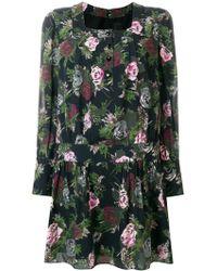Anna Sui - Square Neck Shift Dress - Lyst