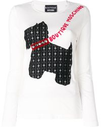 Boutique Moschino - Dog Appliqué Sweater - Lyst