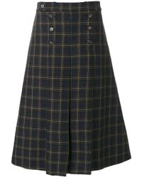 Mulberry - Checked A-line Skirt - Lyst