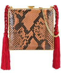 Alessandra Rich - Square Tasselled Clutch - Lyst