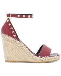 Valentino - Garavino Rockstud Wedge Sandals - Lyst