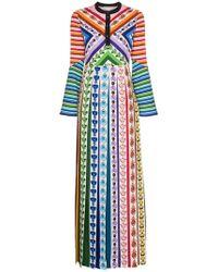 Mary Katrantzou - Vestido largo con estampado desmine - Lyst