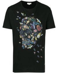 9747a6f92e Alexander McQueen - Beetle Cluster Skull T-shirt - Lyst