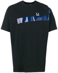 Fred Perry - Panelled T-shirt - Lyst