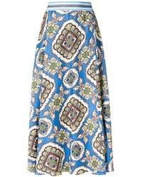 Altea - Floral Print Skirt - Lyst