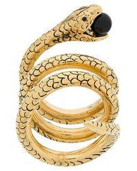 Saint Laurent - Snake Wrap-around Ring - Lyst