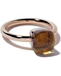 Pomellato - 18kt Rose & White Gold Medium Nudo Citrine Quartz Ring - Lyst