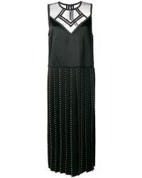 Fendi - Embellished Satin Dress - Lyst