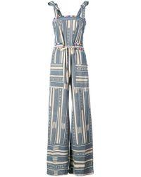 Warm - Stripe Pattern Jumpsuit - Lyst
