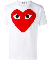 COMME DES GARÇONS PLAY - T-shirt à logo - Lyst