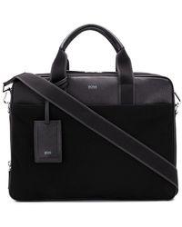 BOSS - Grained Laptop Bag - Lyst