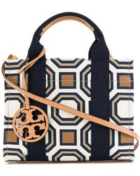 Tory Burch - Geometric Patterned Tote - Lyst