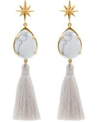 Marte Frisnes - White And Gold Metallic ziggy Sterling Silver Earrings - Lyst