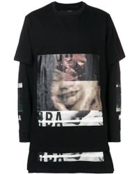 Hood By Air - Sudadera oversize a capas - Lyst