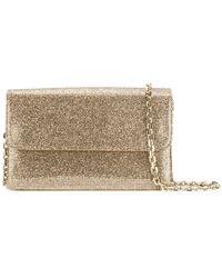 Casadei | Glittered Foldover Clutch Bag | Lyst