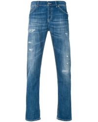 Dondup - Faded Distressed Jeans - Lyst