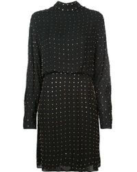 Sally Lapointe - Studded Detail Longsleeved Dress - Lyst