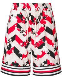 Maison Kitsuné - Shorts con estampado gráfico - Lyst