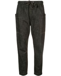 Brunello Cucinelli - Tapered Denim Style Trousers - Lyst