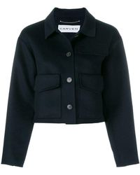Carven - Cropped Button Jacket - Lyst