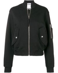 Moschino - Long Sleeved Bomber Jacket - Lyst