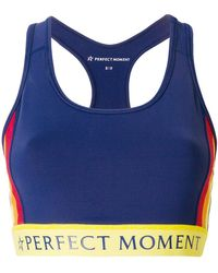 Perfect Moment - Printed Logo Fitness Top - Lyst
