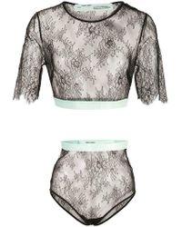 Off-White c/o Virgil Abloh - Lace Lingerie Set - Lyst