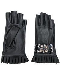 Twin Set - Embellished Fingerless Gloves - Lyst
