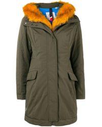 Rossignol - Orange Faux Fur Trim Coat - Lyst