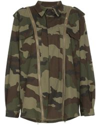 Faith Connexion - Camouflage Jacket With Zip Detail - Lyst