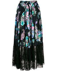 Blugirl Blumarine - Floral Print Full Skirt - Lyst