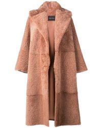 Cara Mila - Gigi Oversized Shearling Coat - Lyst