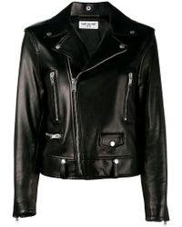 Saint Laurent - Classic Leather Biker Jacket - Lyst