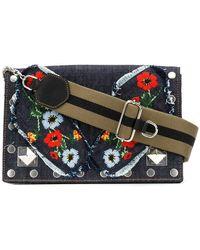 Sonia Rykiel - Le Niki Embroidered Denim Bag - Lyst