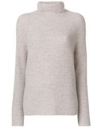 N.Peal Cashmere - High Neck Ribbed Sweater - Lyst