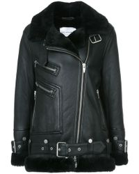 The Arrivals - Moya Iii Oversize Leather & Genuine Shearling Jacket - Lyst