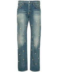 Tu Es Mon Tresor - Pearl Embellished Cropped Jeans - Lyst