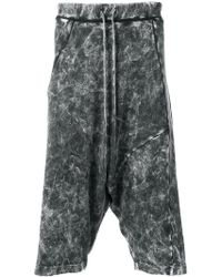 Lost and Found Rooms - Acid Wash Drop Crotch Shorts - Lyst