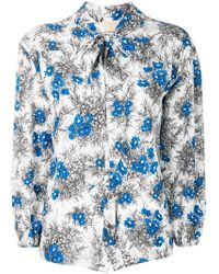 Erika Cavallini Semi Couture - Floral Print Blouse - Lyst