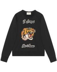 Gucci   Cotton Sweatshirt With Tiger   Lyst