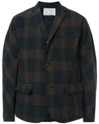 Kolor - Checked Single-breasted Blazer - Lyst
