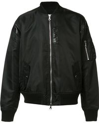 Mostly Heard Rarely Seen - Leather Detailing Bomber Jacket - Lyst