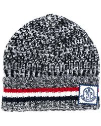 Moncler Gamme Bleu - Signature Knitted Beanie Hat - Lyst