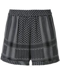 Cecilie Copenhagen - Printed Shorts - Lyst